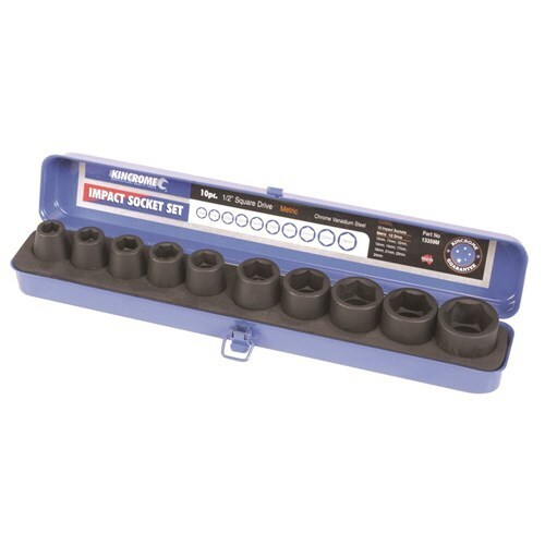 "Air Impact Socket Set 10 Piece 1/2"" Drive Kincrome 13359AF"