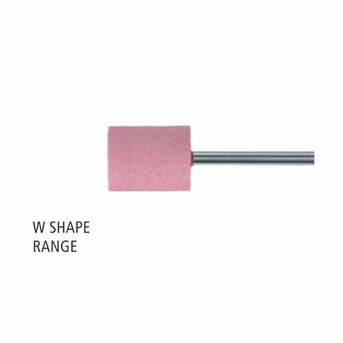"W Shape 3mm & 1/8"" Shank Aluminium Oxide - Pink - O Hardness"
