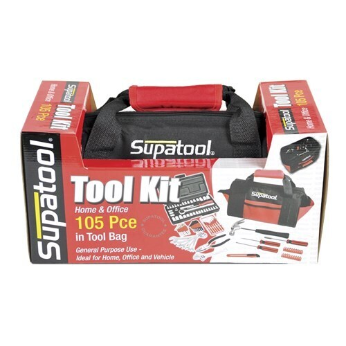 "TOOLBAG KIT 105 PIECE 1/4"" DRIVE"